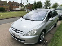 2005 ESTATE PEUGEOT 307 SW QUICKSILVER 7 SEAT CHEAP ( SPARE OR REPAIR )
