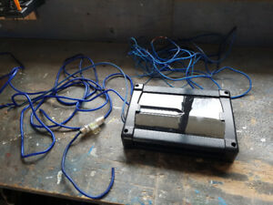 Car stereo amplifier and wiring