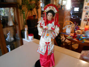 Franklin Heirloom porcelain hand painted doll Oriental Goddess