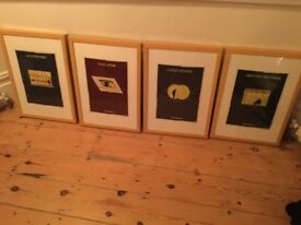 4 framed pictures of architects