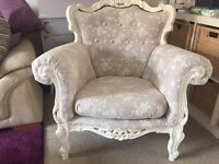 Vintage upcycled French armchair