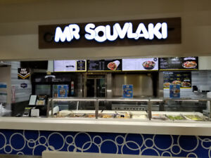 Mr Souvlaki Franchisee Business For Sale In a Mall, Brampton, ON
