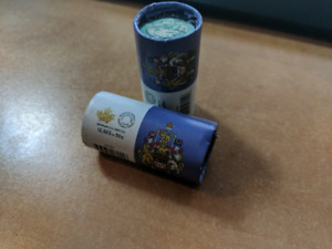 Two 2016 50cent rolls 12.50 in each roll