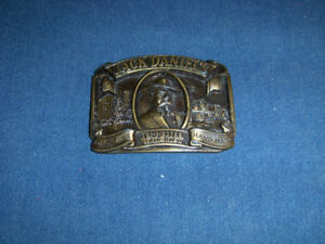 JACK DANIEL'S TENNESSEE WHISKEY BELT BUCKLE-1989-DISTILLERY