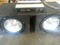 Kicker subs & Kenwood amp