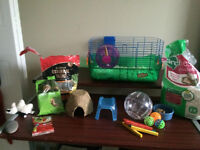 Hamster (Small Animal) Cage + Many Accessories and Food