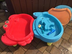 Water and sand table and a Cars pool