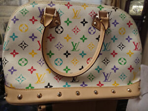 LOUIS VUITTON Multi Color Alma Hand Bag