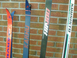 Cross Country Skis with SNS Bindings and Hartjes Boots M 8, L 9