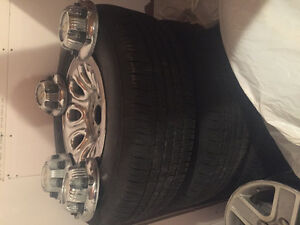 "265-70-17"" Goodyear wrangler tires and rims"