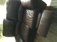 ELRAN LEATHER LOVE SEAT RECLINER