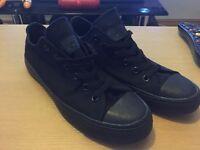 Converse in black size 8.5 men's