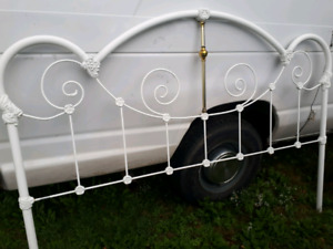 Beautiful White King Size Metal Headboard