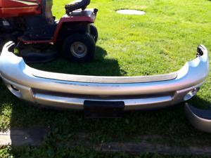 02-05 dodge ram painted front sport bumper