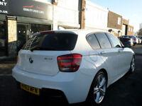 2013 BMW 118 2.0TD 143bhp s/s Sports Hatch Auto M Sport 5DR 63 REG Diesel White