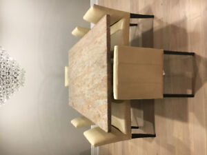 Custom Granite Dining Room table and chairs