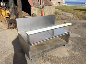 Stainless steel restaurant sink, table, etc. Industrial