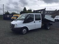 LOW MILE ford transit crew cab tipper 59K miles