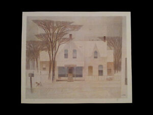 """A.J. Casson """"Sunday Morning"""" Lithograph - Appraised at $750 London Ontario image 5"""
