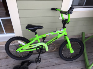 "Norco 16"" kids bike with training wheels"