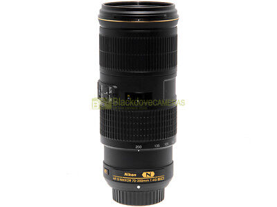 Nikon AF-s zoom Nikkor 70/200mm f4 G ED VR N Nital. Full Frame.  Garanzia.