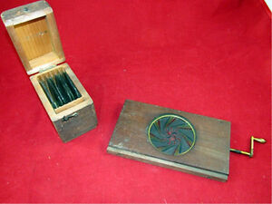 Magic Lantern Kaleidoscope with wooden box of 8 additional lense