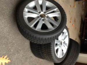 4 Winter tires for BMW 1 series and 2 series on 4 BMW rims. Bran