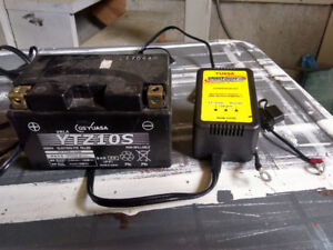 Turn signals, battery and battery charger