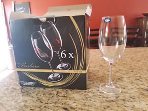 Brand new wine glasses