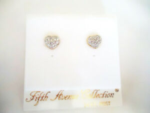 Swarovski Crystal Heart Shaped Stud Earrings - NEW