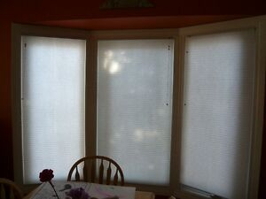 $50 total for both - Home Depot White Cloth Blinds
