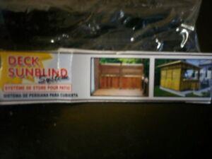Système de store pour patio Deck Sun blind System.