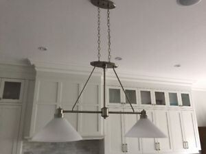 Kitchen ceiling double pendant