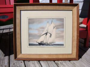 WR Macaskill Photo Bluenose Schooner Champion Pencil Signed