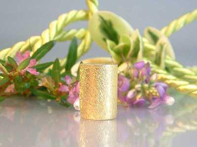 ZS599 -- Neu : 3 Stück Walze 14x10mm Kupfer vergoldet