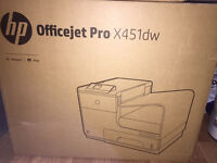 HP Officejet Pro X451dw wireless network printer (never opened)