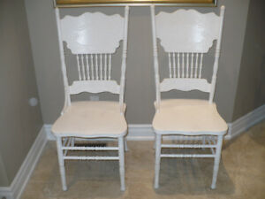 White oak cottage chairs