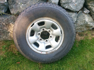 Set of four 225/75R/15 with Rims