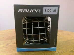 Bauer 2100 Hockey Helmet Combo with Cage (Size M, Brand New)