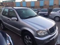 MERCEDES ML DIESEL AUTOMATIC 7 SEATS 2.7 2002