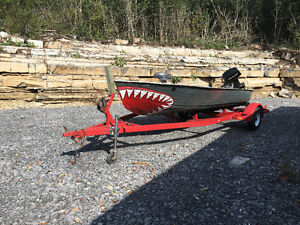 Boat,motor and trailer complete ready for fishing
