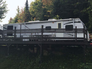 Roulotte saisonnier Camping Vallée Beauceronne
