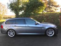 2011 61 BMW 318d M SPORT 2.0 TOURING ESTATE DIESEL AUTO GREY PRO MEDIA SAT NAV