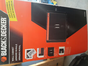 Black & Decker 2 door garage wall cabinet - Brand New