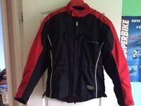 "Hein Gericke ""ALL SEASONS"" textile ladies' motorcycle jacket - Size 38"