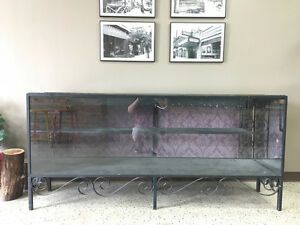 "Large Glass Display Cabinet - 74""x20""x34"""