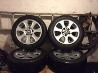 MAKE ME AN OFFER! Bmw 3 series alloy wheels really good tyres 5x120 1 2 4 5 6 7 transporter insignia