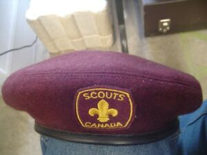 Official Vintage Maroon Boy Scouts of Canada Medium Size Beret