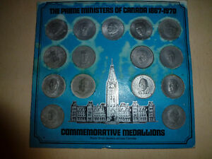 The Prime Ministers of Canada Commemorative Medallion Set London Ontario image 1