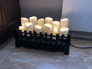 Electric Insert with Candles